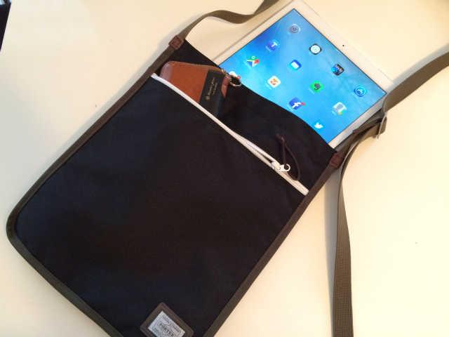 PORTER×B印 YOSHIDA (GS) TABLET SHOULDER BAGにiPad Proを入れてみた