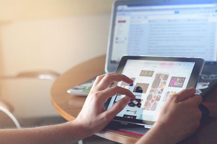iPadでインターネット検索
