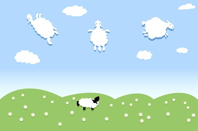 幼稚な羊の絵