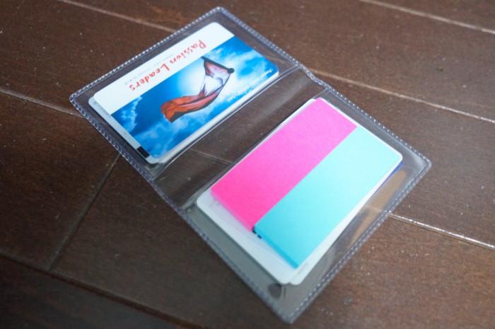 カードケース内よ付箋
