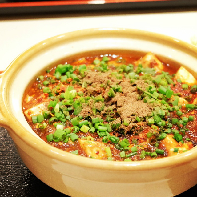 麻婆豆腐に花椒