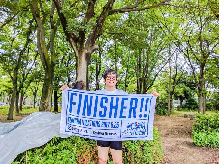 大阪城トライアスロン完走したよ
