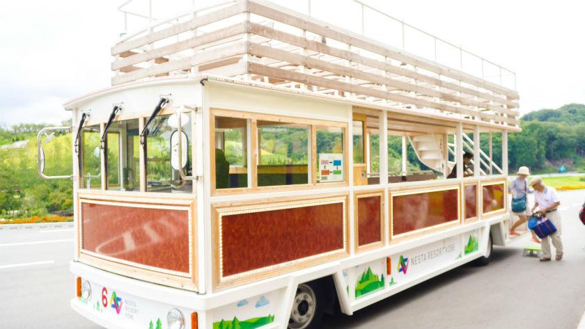 施設内のバス