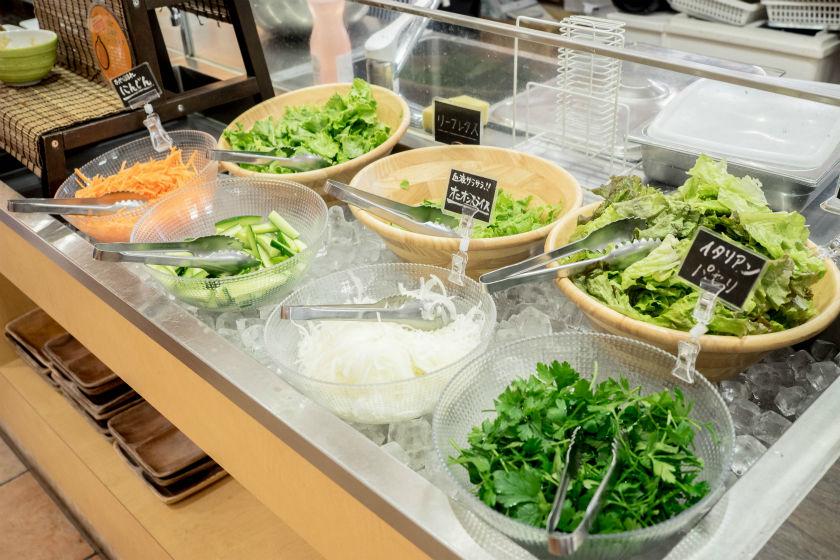 地元で取れた生野菜