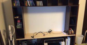 カラーボックスを使って自作テレビボードをDIYしてみた。だって大掃除だし