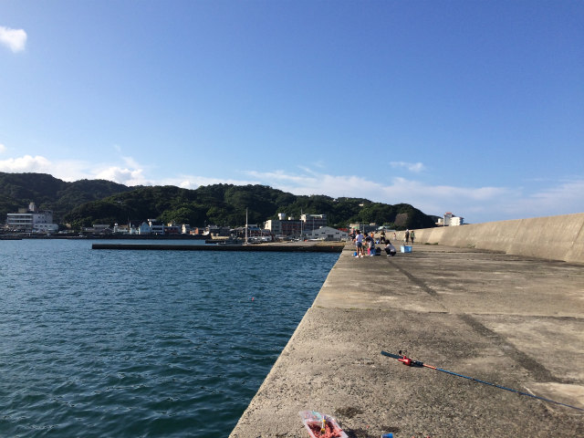 加太の漁港
