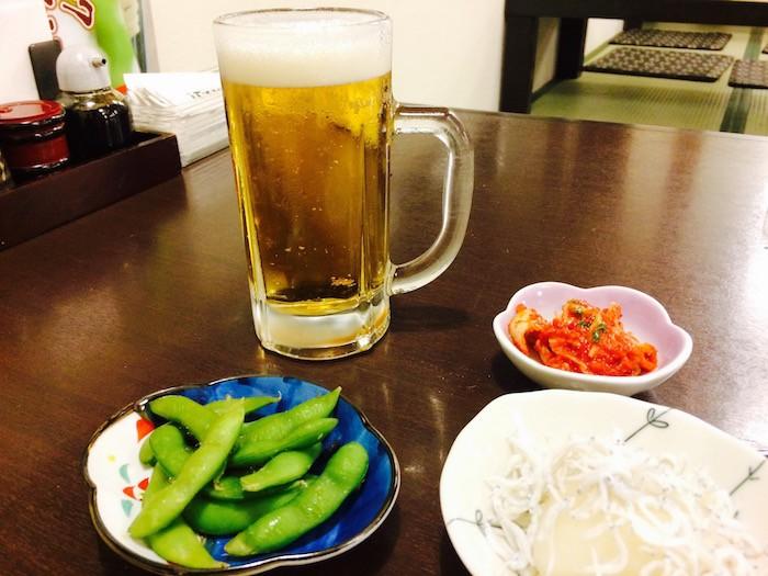 極楽湯でビール