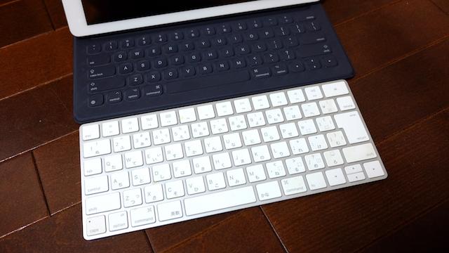 Smartキーボード 大きさ比較