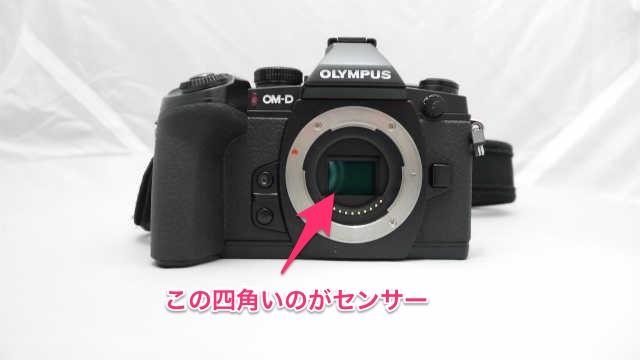 カメラのセンサーの説明
