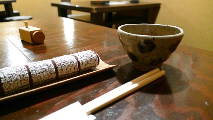 土山人のお茶やお絞り