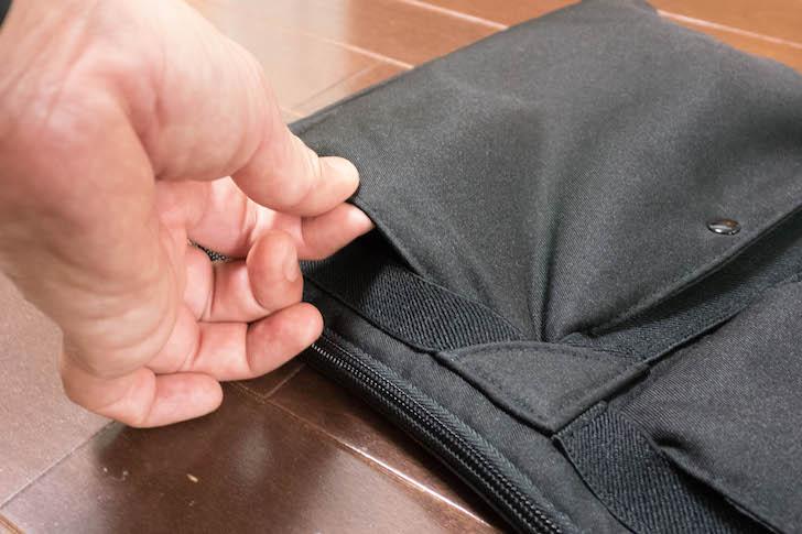 ポケットの横位置
