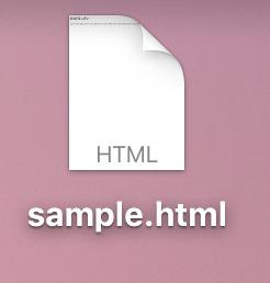 sample.htmlのアイコン