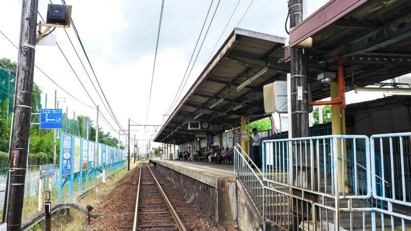 緑が丘駅の単線