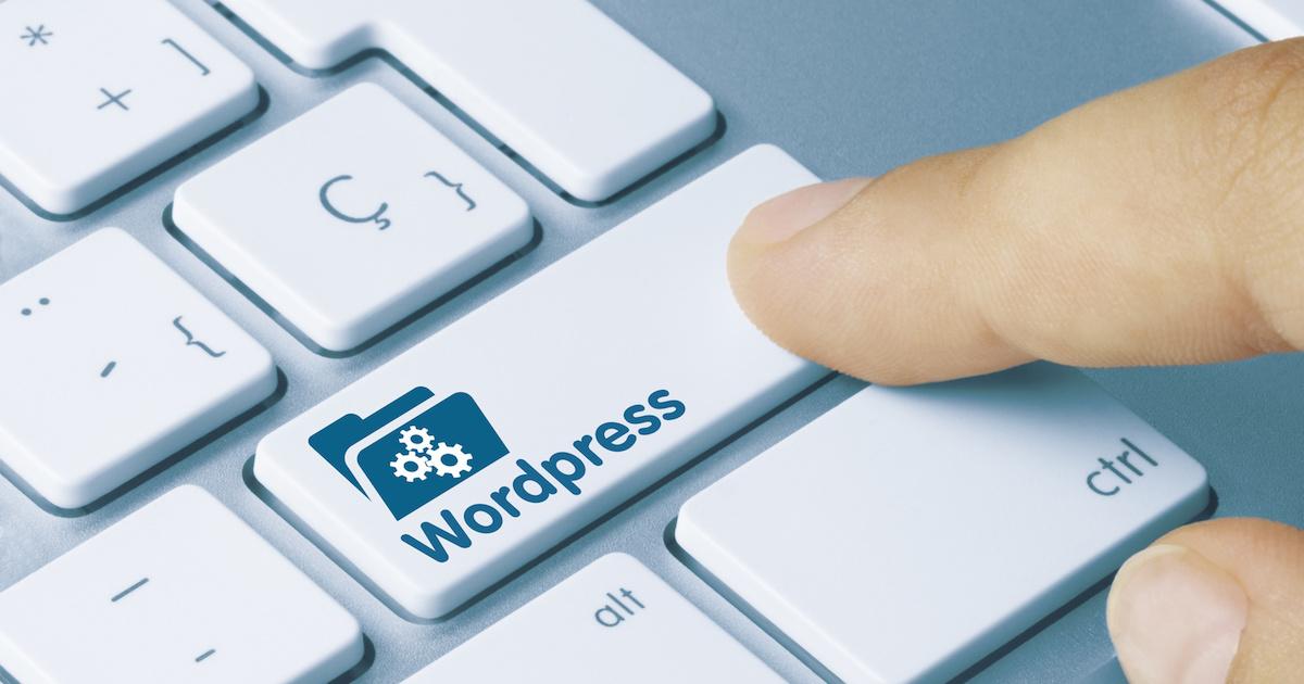 WordPressキーを押す