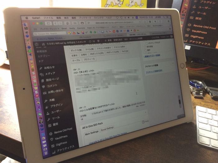 iPad Proでの表示